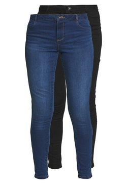 Dorothy Perkins - ELLIS SLIM 2 PACK - Slim fit jeans - black/indigo