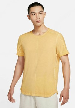 Nike Performance - HERREN YOGA KURZARM - T-Shirt basic - gelb