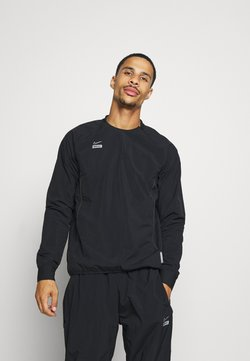 Nike Performance - MIDLAYER CREW - Laufjacke - black/silver