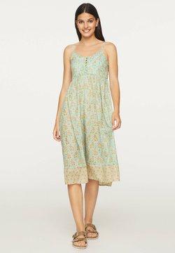 OYSHO - TURQUOISE INDIAN COTTON NIGHTDRESS - Sukienka letnia - turquoise