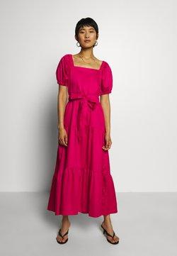 Who What Wear - GATHERED DRESS - Maxi dress - lipstick