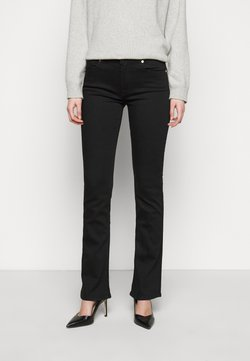 7 for all mankind - LUXURIOUS RINSE - Jeans bootcut - black