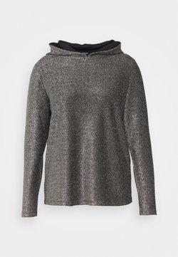 Simply Be - DAVINA GLITTER HOODIE - Maglietta a manica lunga - black