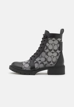 Coach - LANA BOOTIE - Lace-up ankle boots - black