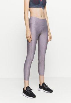 Under Armour - HI RISE CROP - Tights - slate purple light heather