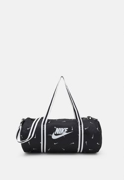 Nike Sportswear - HERITAGE DUFF - Sporttasche - black/black/white