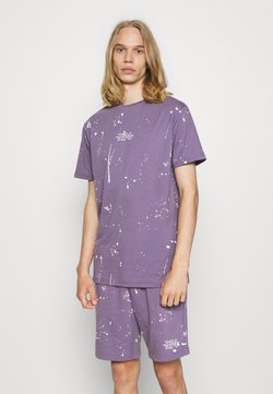 274 - WASHED PAINT TEE AND SHORT SET - T-Shirt print - lilac