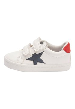 Next - BLACK DOUBLE STRAP STAR TRAINERS (YOUNGER) - Baskets basses - white