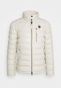 Blauer - JACKET - Leren jas - optical white