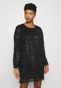 Nly by Nelly - FRINGE DRESS - Sukienka koktajlowa - black
