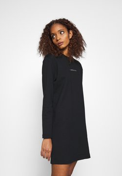 Calvin Klein - METALLIC LOGO DRESS - Vardagsklänning - black
