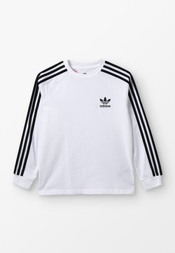 adidas Originals - T-shirt à manches longues - white/black