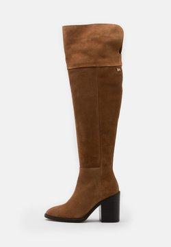 Tommy Hilfiger - MODERN BOOT - High heeled boots - natural cognac