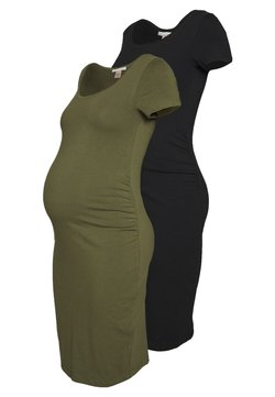 Anna Field MAMA - 2 PACK - Etuikleid - dark green/black