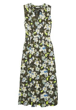 TOM TAILOR - DRESS PRINTED - Maxikleid - khaki design green