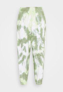 Topshop Petite - TIE DYE - Jogginghose - green