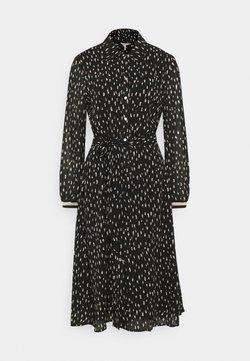 Esqualo - DRESS DOUBLE DOT - Vapaa-ajan mekko - black