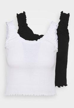 Even&Odd - 2 PACK - Toppe - black/white