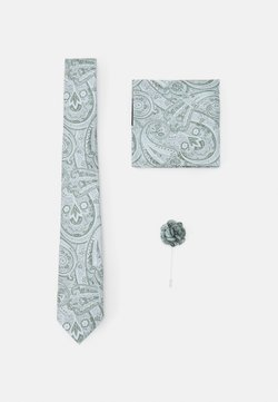 Burton Menswear London - TIE HANKIE AND PIN SET - Krawatte - grey