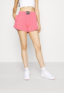 Nike Sportswear - WASH  - Shorts - sunset pulse/black