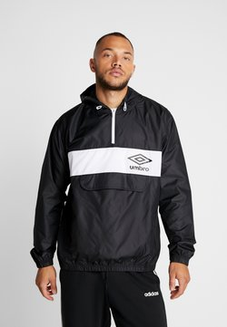 Umbro - PANELLED 1/2 ZIP  - Windbreaker - black/brilliant white