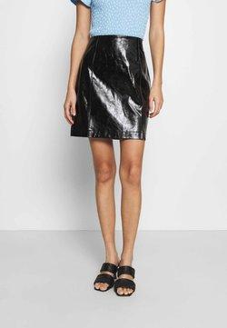 Vila - VIJUMAS SLIT SKIRT - Mini skirt - black