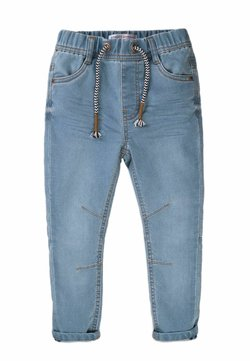 MINOTI - ELASTICATED KNITTED  - Vaqueros slim fit - light blue denim