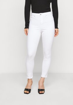Miss Selfridge Petite - WHITE - Jeans Straight Leg - white