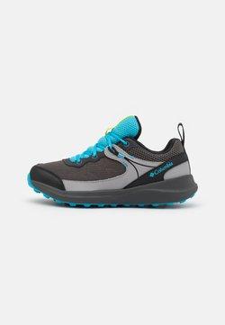 Columbia - YOUTH TRAILSTORM UNISEX - Obuwie hikingowe - dark grey/cyan blue
