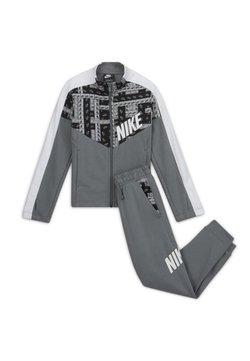 Nike Sportswear - TRACKSUIT SET - Survêtement - smoke grey/white/smoke grey/white