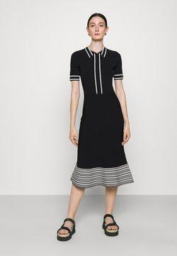 KARL LAGERFELD - FLAIR DRESS - Strickkleid - black