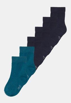 Ewers - PLAIN RINGLET 6 PACK - Sokken - blue