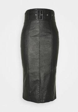 Glamorous - BELTED PENCIL SKIRT - Kokerrok - black