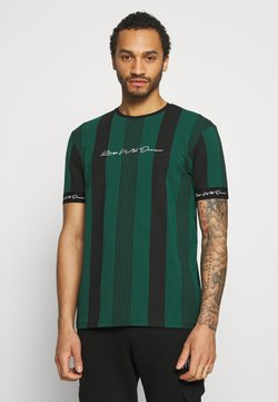 Kings Will Dream - VEDTON STRIPE TEE - T-Shirt print - evergreen/black