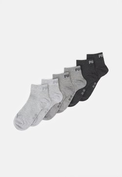 Puma - QUARTER PLAIN 6 PACK UNISEX - Sportsocken - grey combo