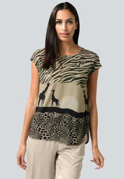 Alba Moda - T-Shirt print - beige schwarz