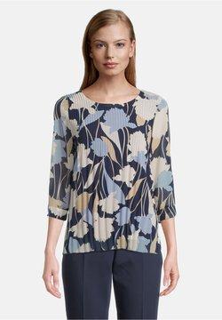 Betty & Co - MIT PLISSEE - Bluse - dunkelblau/weiß