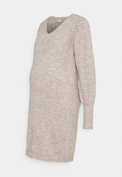 Pieces Maternity - PCMPAM VNECK DRESS - Sukienka dzianinowa - warm taupe