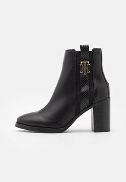 Tommy Hilfiger - INTERLOCK BOOT - High Heel Stiefelette - black