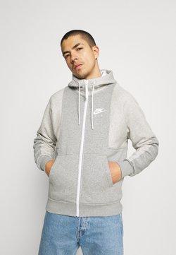 Nike Sportswear - AIR HOODIE - Sweatjacke - grey heather/grey heather/white