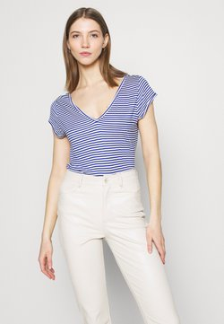 Vila - T-Shirt basic - mazarine blue/optical snow
