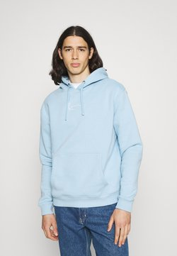 Karl Kani - SMALL SIGNATURE HOODIE UNISEX - Sweatshirt - light blue