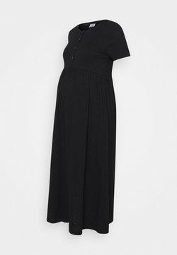 Cotton On - MATERNITY SHORT SLEEVE BABYDOLL MIDI DRESS - Maxikleid - black