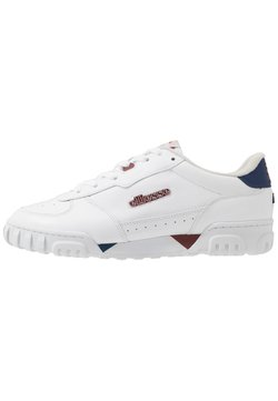 Ellesse - TANKER - Sneaker low - white/dark blue/dark red