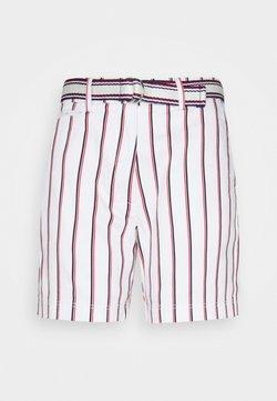 Tommy Hilfiger - STRIPED BERMUDA - Shorts - global/white