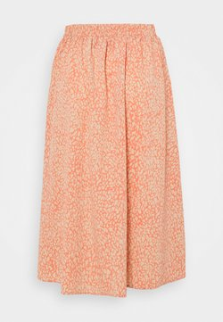 Pieces Petite - PCGILBERTA MIDI SKIRT - A-Linien-Rock - deep sea coral