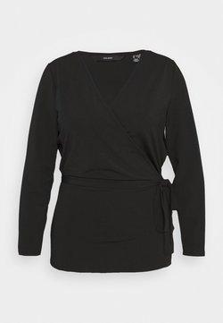 Vero Moda Curve - VMPARIA WRAP - Strickjacke - black