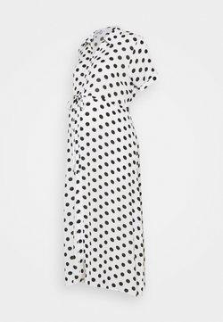 Glamorous Bloom - DRESS WITH BELT MATERNITY - Maxikleid - white/black
