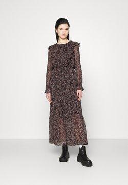 NU-IN - FRILL SHOULDER DRESS - Maxikleid - leopard print