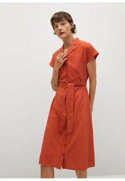 Mango - NUDO-H - Vestido camisero - burnt orange